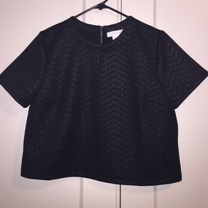 Forever 21 black chevron crop top